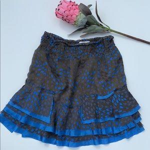Free People Skirt Smocked Ruffle Skirt